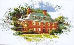 Click for more details of Carter's Grove Plantation (cross-stitch pattern) by Ronnie Rowe Designs
