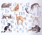 Click for more details of Cat Alphabet (cross-stitch kit) by Royal Paris