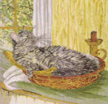 Click for more details of Cat in a Basket (cross stitch) by Royal Paris