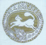 Click for more details of Cat Roundel (cross-stitch) by The Workbasket