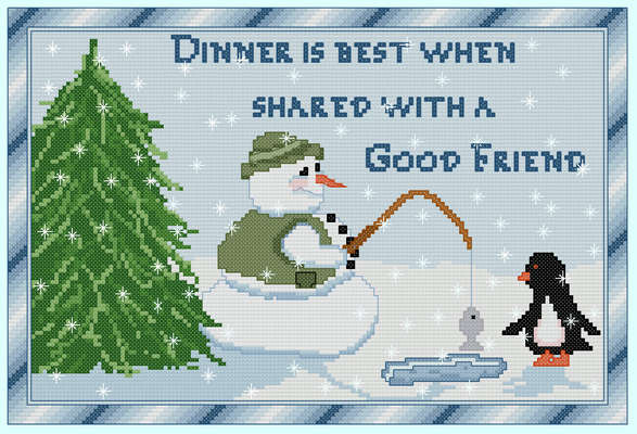 Click for more details of Catching Dinner (cross-stitch pattern) by The Golden Hoop