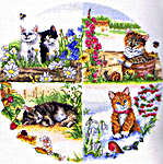 Click for more details of Cats and Seasons (cross-stitch) by Anchor