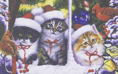 Click for more details of Cats on the Window (cross-stitch) by Mystic Stitch Inc