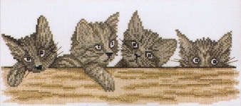 Click for more details of Cats Over the Fence (cross-stitch) by Lanarte