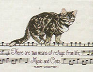 Click for more details of Cattitudes - The First Litter (cross stitch) by Jeanette Crews