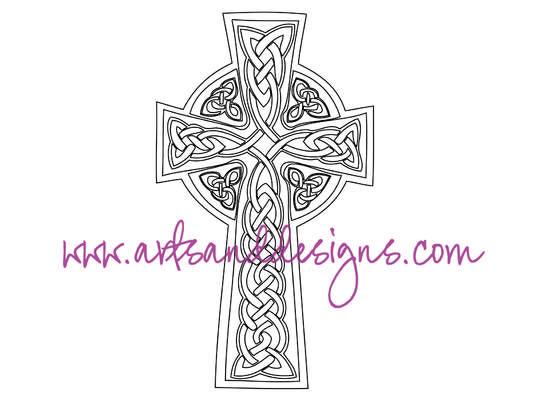 Click for more details of Celtic Cross Digital Stamp (digital downloads) by Julie Lynes