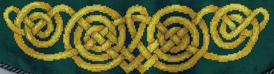 Click for more details of Celtic Curtain Tiebacks (cross-stitch) by Anne Peden