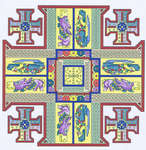 Click for more details of Celtic Jerusalem Cross (cross-stitch) by Mike Vickery