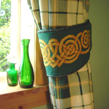 Click for more details of Celtic Knot Curtain Tie Back (cross-stitch pattern) by Anne Peden