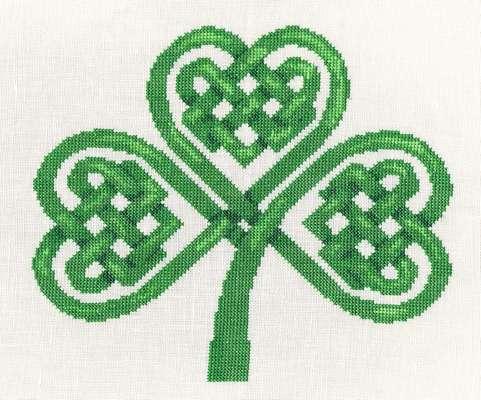 Click for more details of Celtic Knot Shamrock (cross stitch) by Anne Peden