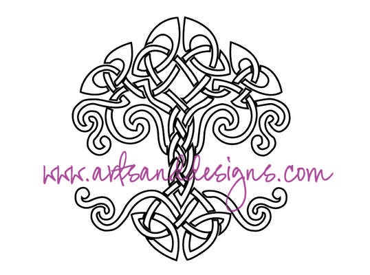 Click for more details of Celtic Knot Tree Digital Stamp (digital downloads) by Julie Lynes