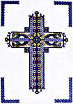 Click for more details of Celtic Sapphire Cross (cross-stitch) by Mike Vickery
