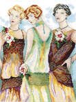 Click for more details of Charleston Ladies (cross-stitch kit) by Lanarte
