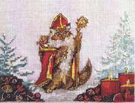 Click for more details of Chat Nicholas (cross stitch) by Nimue Fee Main