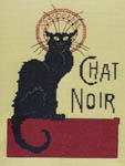Click for more details of Chat Noir (cross stitch) by Art-Stitch