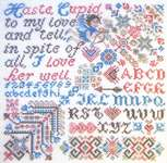Click for more details of Cheerful Cupid (cross stitch) by Tempting Tangles Designs
