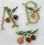 Click for more details of Cherry Basket ABC (cross stitch) by Marie-Anne Rethoret-Melin