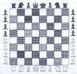 Click for more details of Chess Board (blackwork pattern) by Classic Embroidery