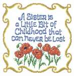 Click for more details of Childhood Sisters (cross-stitch pattern) by Imaginating