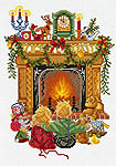 Click for more details of Children by the Fireside (cross-stitch kit) by Eva Rosenstand
