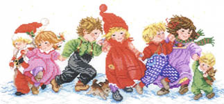 Click for more details of Children in the Snow (cross stitch) by Eva Rosenstand
