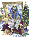 Click for more details of Children on Christmas Eve (cross stitch) by Eva Rosenstand