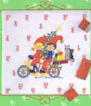 Click for more details of Children on Cycle Christmas Advent (cross stitch) by Eva Rosenstand