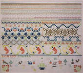 Click for more details of Chile Pepper Sampler, Maria Blaza Moran - 1820 (cross-stitch pattern) by Samplers Remembered