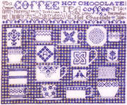 Click for more details of China Blue Sampler (cross-stitch pattern) by Rosewood Manor