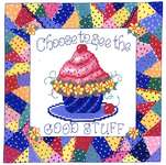 Click for more details of Choose Good Stuff (cross stitch) by Imaginating