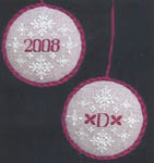 Click for more details of Christmas 2008 Ornament (cross-stitch pattern) by A Stitch in Time