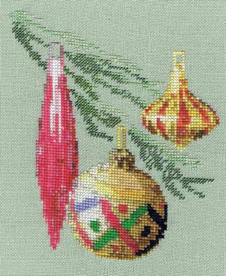 Click for more details of Christmas Baubles (cross-stitch) by Anne Peden