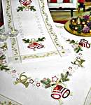 Click for more details of Christmas Bells and Stars Table Toppers (embroidery kit) by Rico Design