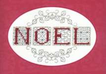 Click for more details of Christmas Card - Noel (blackwork kit) by Rose Swalwell