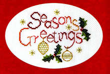 Click for more details of Christmas Card - Seasons Greetings (cross stitch) by Rose Swalwell