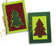 Click for more details of Christmas Cards - Trees in Red and Green (paper craft kits and album kits) by Lanarte