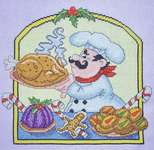 Click for more details of Christmas Chef (cross stitch) by Cross Stitching Art