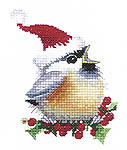 Click for more details of Christmas Chick (cross-stitch kit) by Valerie Pfeiffer