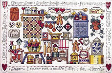 Click for more details of Christmas Cookies (cross-stitch pattern) by Jeremiah Junction