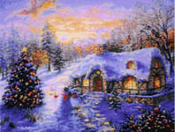 Click for more details of Christmas Cottage (cross-stitch pattern) by Kustom Krafts