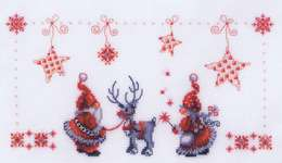 Click for more details of Christmas Elves (cross stitch) by Vervaco