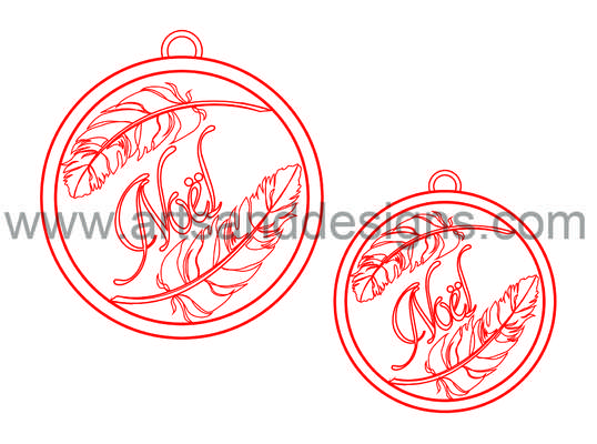 Click for more details of Christmas Feather Baubles - Santa Suit Red - Digital Stamp (digital downloads) by Julie Lynes
