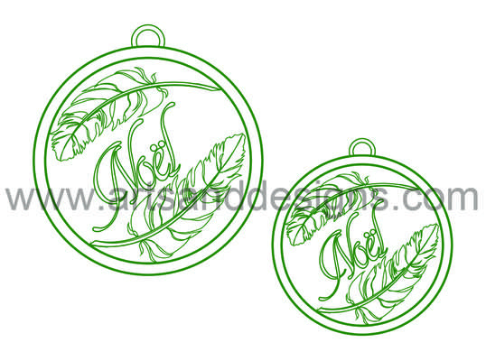 Click for more details of Christmas Feather Baubles - Tree Green - Digital Stamp (digital downloads) by Julie Lynes