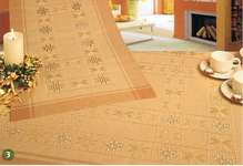 Click for more details of Christmas Hardanger Stars Table covers in Caramel (hardanger) by Rico Design