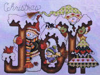 christmas joy cross stitch chart