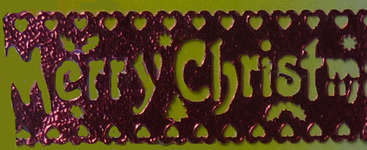 Click for more details of Christmas Lace Border (ribbons) by Siesta Frames