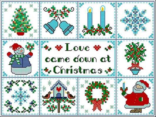 Click for more details of Christmas Love (cross-stitch pattern) by Designs by Cathy