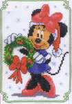 Click for more details of Christmas Minnie (cross-stitch kit) by Disney by Vervaco