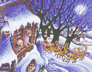 Click for more details of Christmas Night (cross stitch) by Mystic Stitch Inc