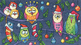 Click for more details of Christmas Owls (cross stitch) by Karen Carter